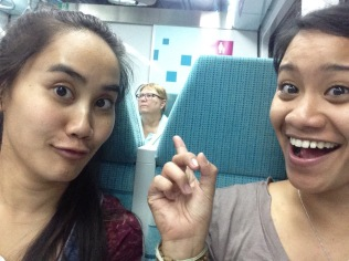 Dr. Kerry on the train with us.